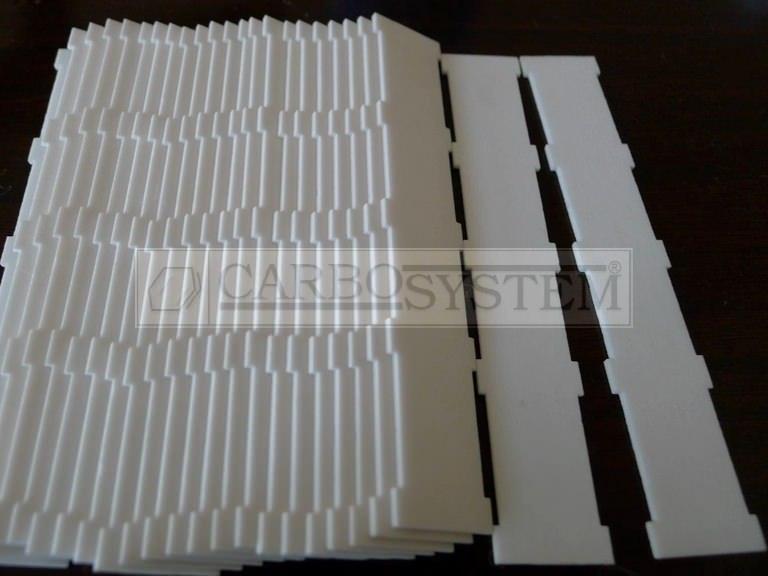 piezas de alumina