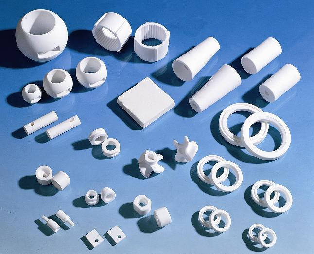 Piezas de cerámica estructurada