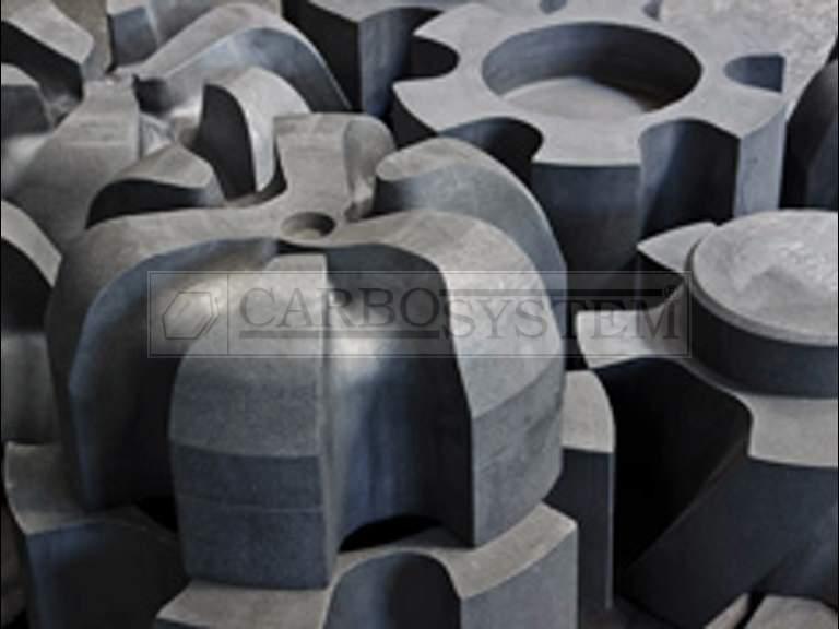 ejes de grafito en desgasificadores